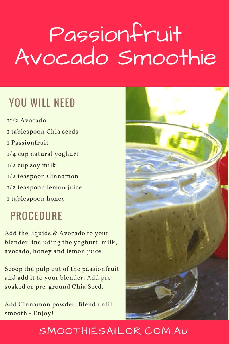 passionfruit avocado smoothie