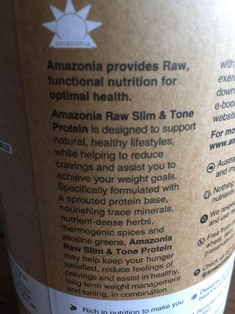 Amazonia Raw Slim&Tone Protein Powder description