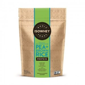 isowhey pea brown rice organic protein powder