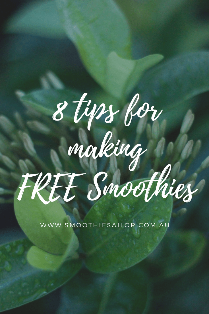 8 Tips for Making Free Smoothies | SmoothieSailor.com.au