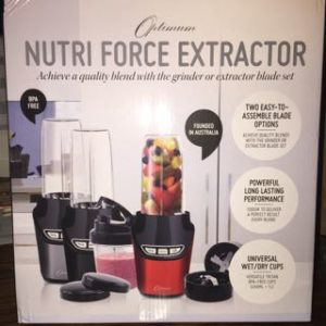 Front of the box - Optimum Nutriforce Extractor | SmoothieSailor.com.au
