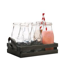 Avanti-6pc-Glass-Milk-Bottle-Set-w-Wooden-Tray_1a_230px